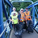 Litter picking at Teddington Lock